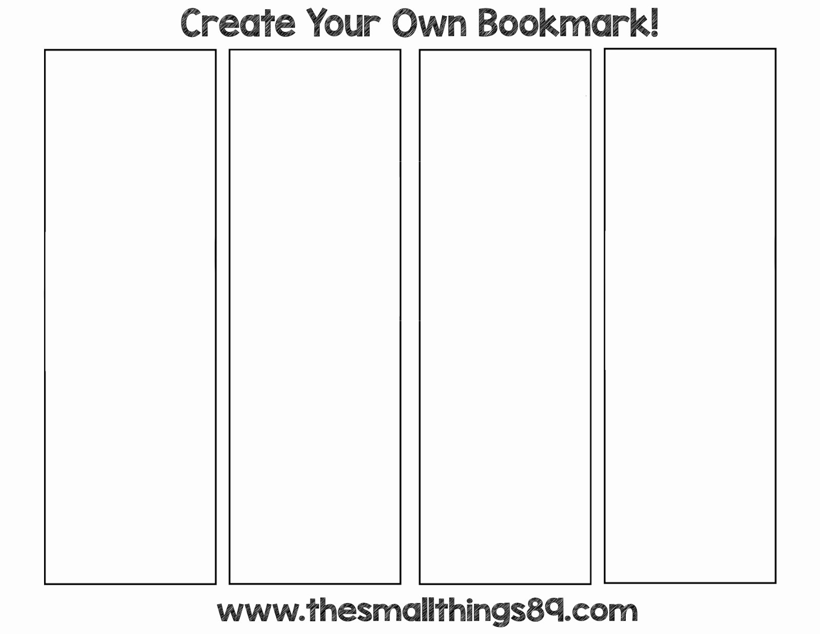 Blank Bookmark Template Word Inspirational Back to School with Crayola Products Score Printable