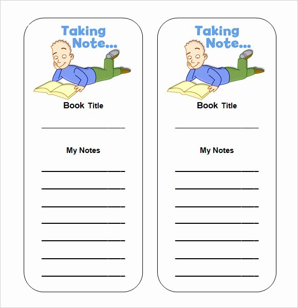 Blank Bookmark Template Word New Bookmark Template Word
