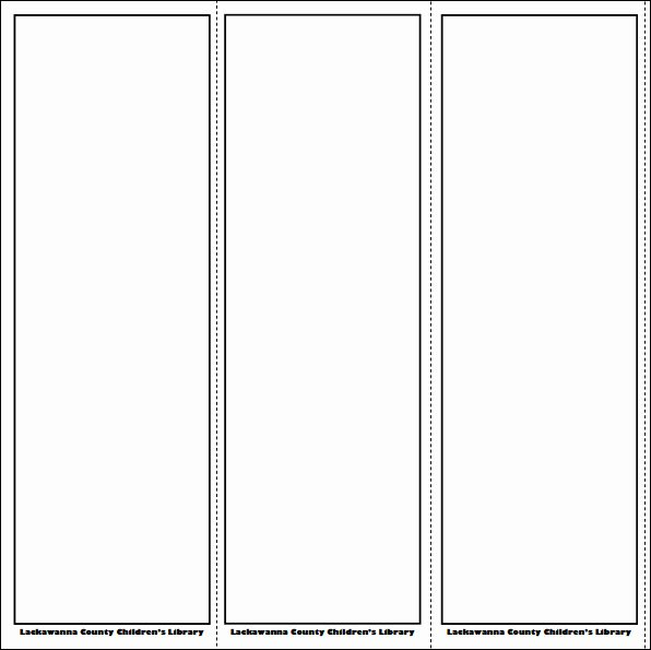 Blank Bookmark Template Word Unique Printable Bookmark Template