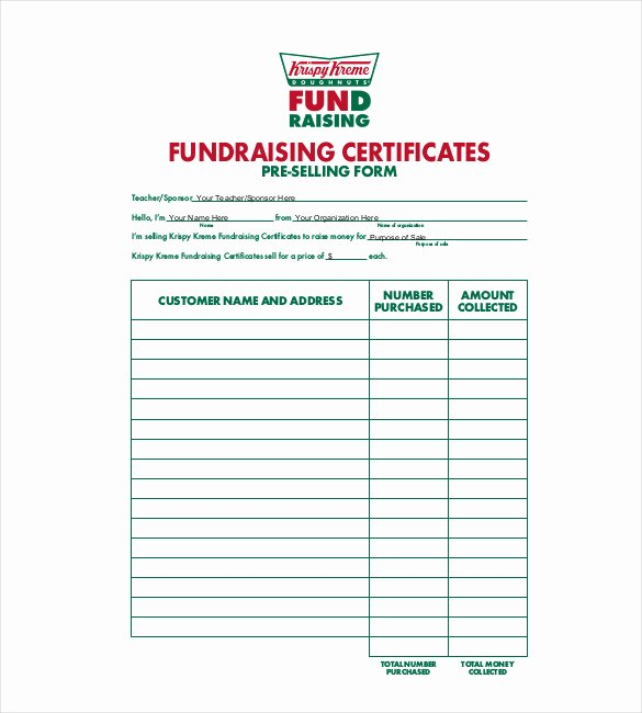 Blank Fundraiser order form Template Inspirational 20 order Template Word Excel Pdf