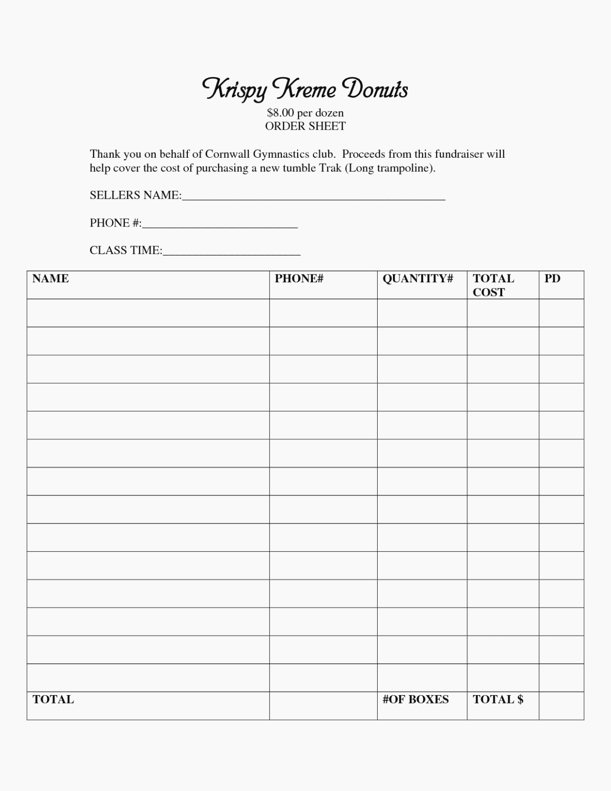 Blank Fundraiser order form Template New the Hidden Agenda