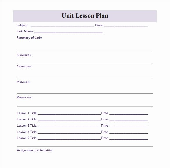 Blank Lesson Plan Template Pdf Best Of Sample Blank Lesson Plan 10 Documents In Pdf