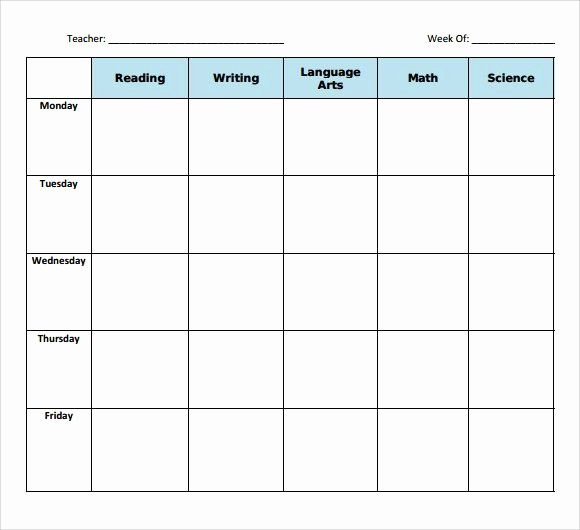 Blank Lesson Plan Template Pdf Lovely Sample Blank Lesson Plan Template 10 Free Documents In Pdf