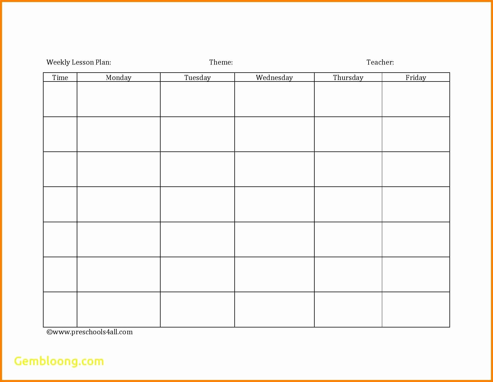 Blank Lesson Plan Template Pdf Luxury 7 Editable Weekly Lesson Plan Template