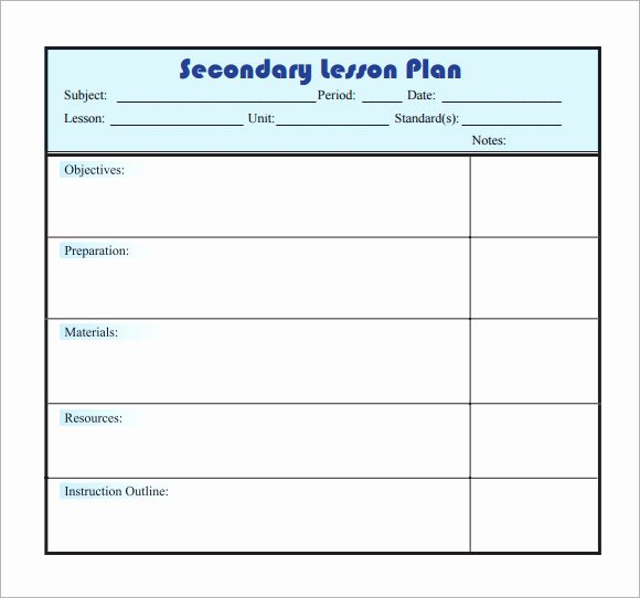 Blank Lesson Plan Template Pdf Unique Free 8 Sample Lesson Plans In Pdf