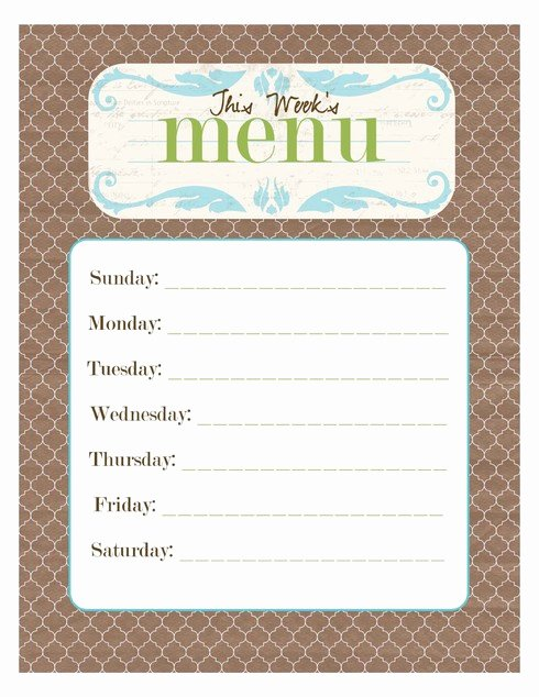 Blank Menu Template Free Best Of Free Printable Blank Menu Templates