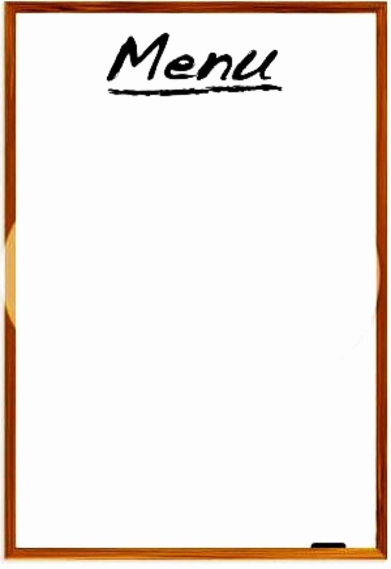 Blank Menu Template Free Inspirational Restaurant Menus Blank Clipart Best