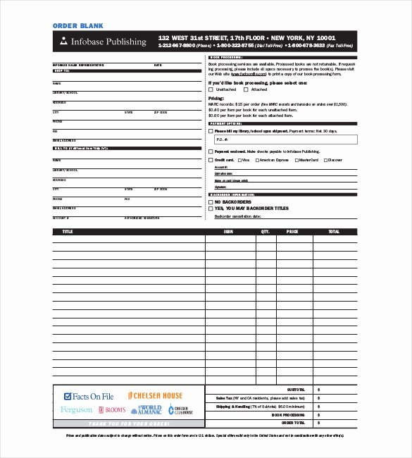Blank order form Template New 41 Blank order form Templates Pdf Doc Excel