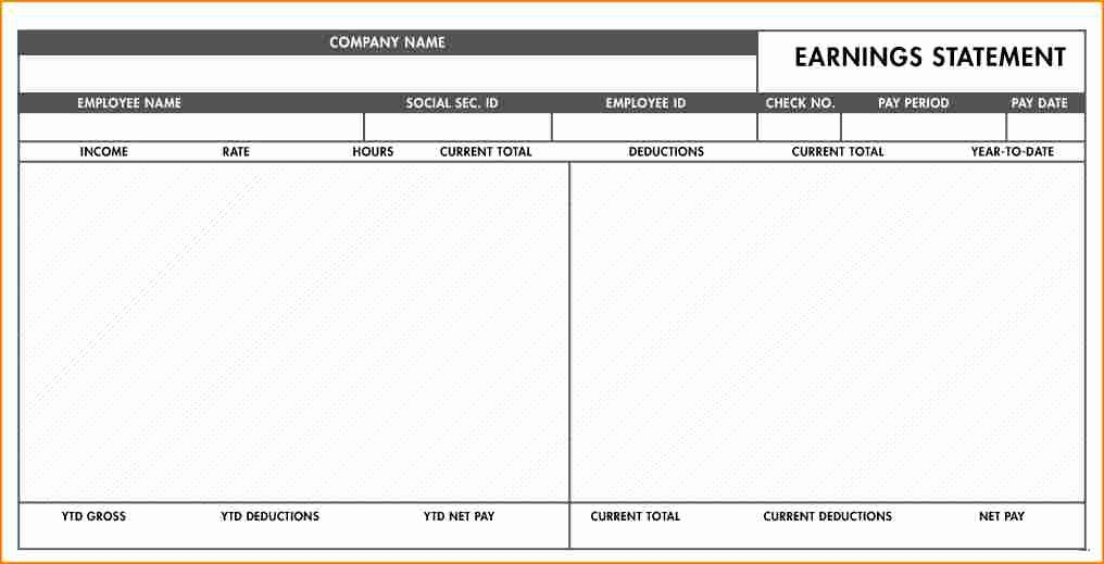 Blank Pay Stub Template Beautiful 5 Simple Pay Stub Template Free