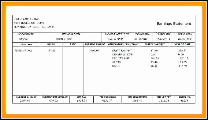 Blank Pay Stub Template Fresh Create Pay Stub Template Template 2 Resume Examples