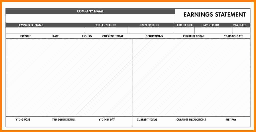 Blank Pay Stub Template Pdf Fresh 5 Pay Stubs Template