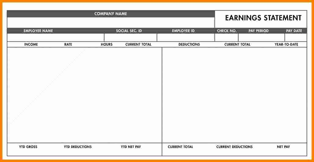 Blank Pay Stub Template Pdf Inspirational 5 Blank Payroll Check Template