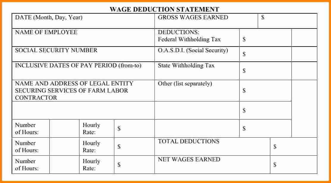 Blank Pay Stub Template Pdf New 10 Blank Pay Stubs Template