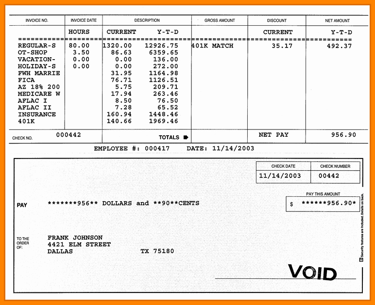 Blank Pay Stub Template Pdf New 7 Walmart Pay Stub Template