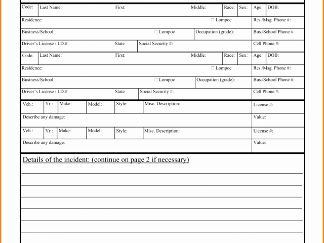 Blank Police Report Template Inspirational Blank Police Incident Report – solab Rural Police