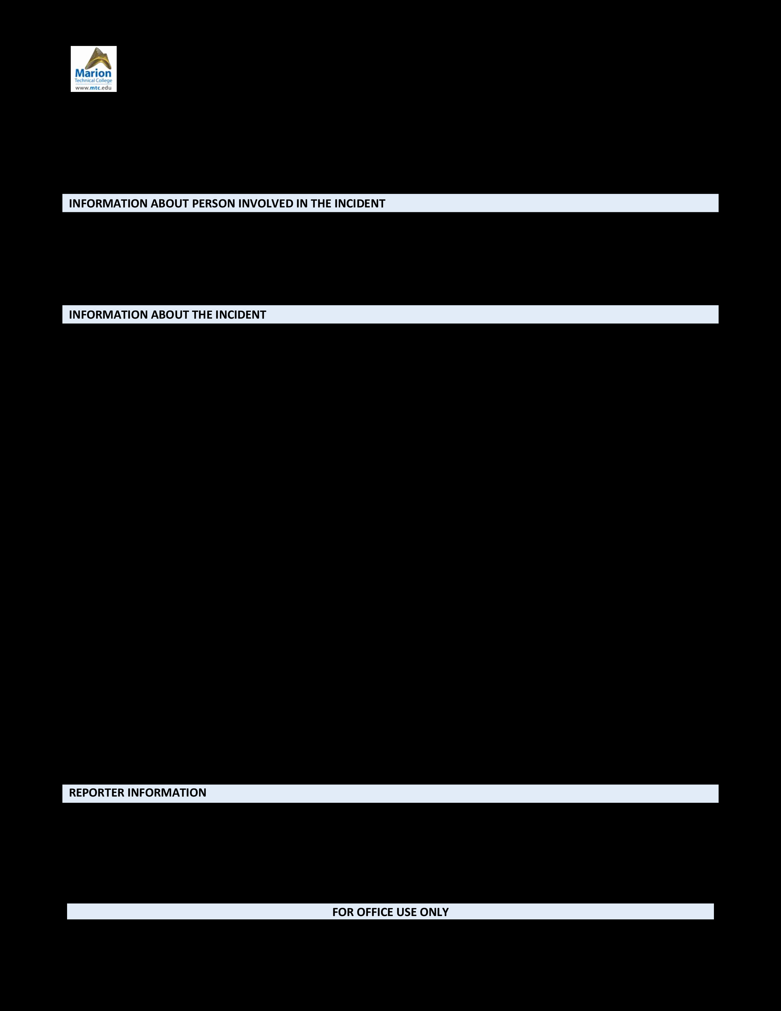 Blank Police Report Template Lovely Blank Police Report