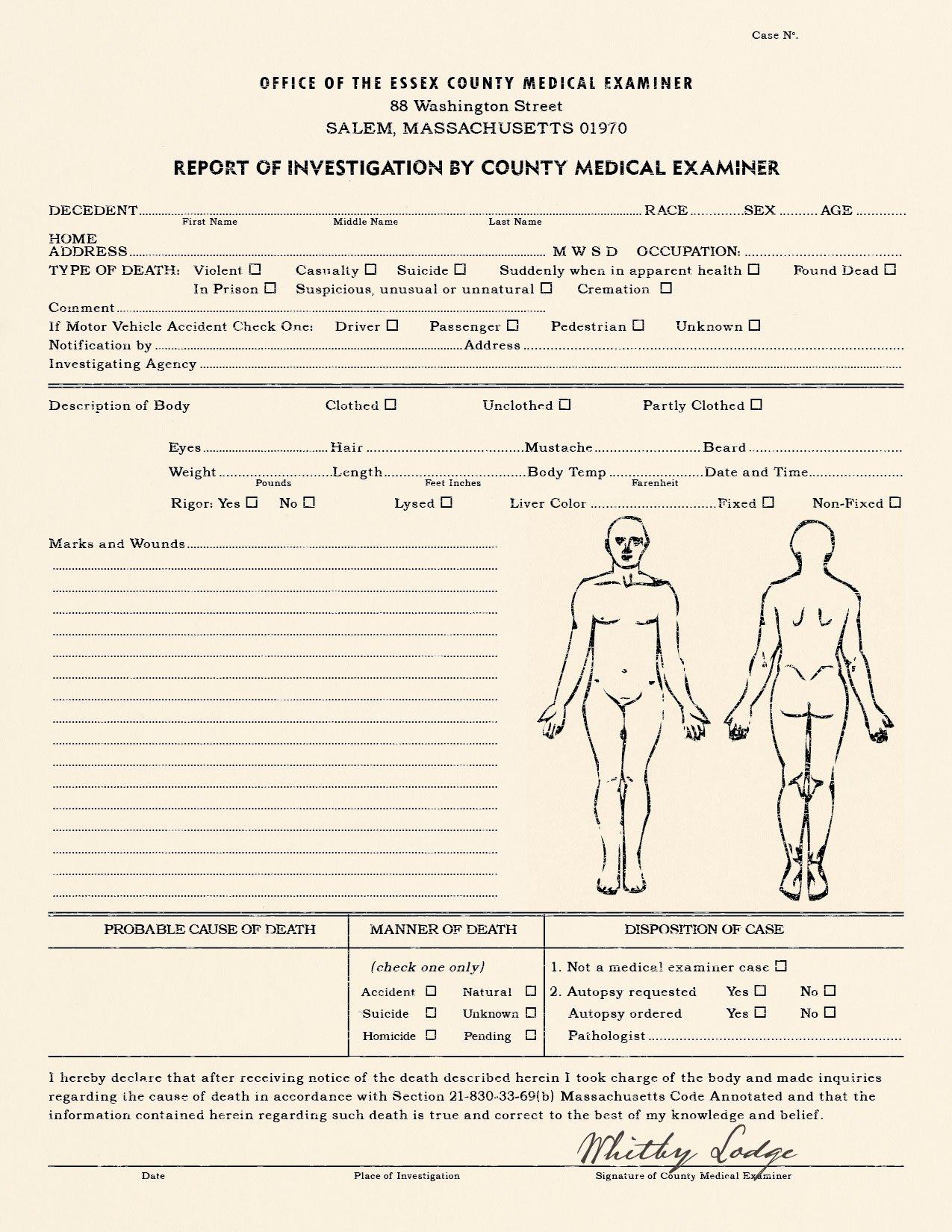 Blank Police Report Template Unique Realistic Blank Police Report Autopsy Report