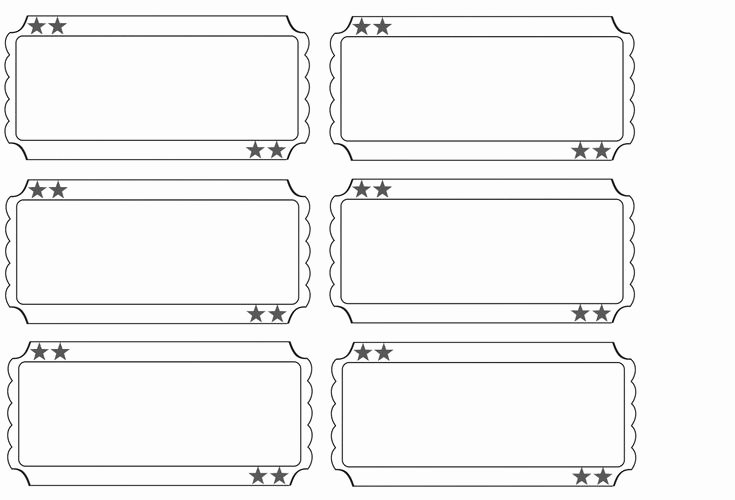 Blank Raffle Ticket Template Best Of Printable Raffle Tickets Blank Kids Google Search