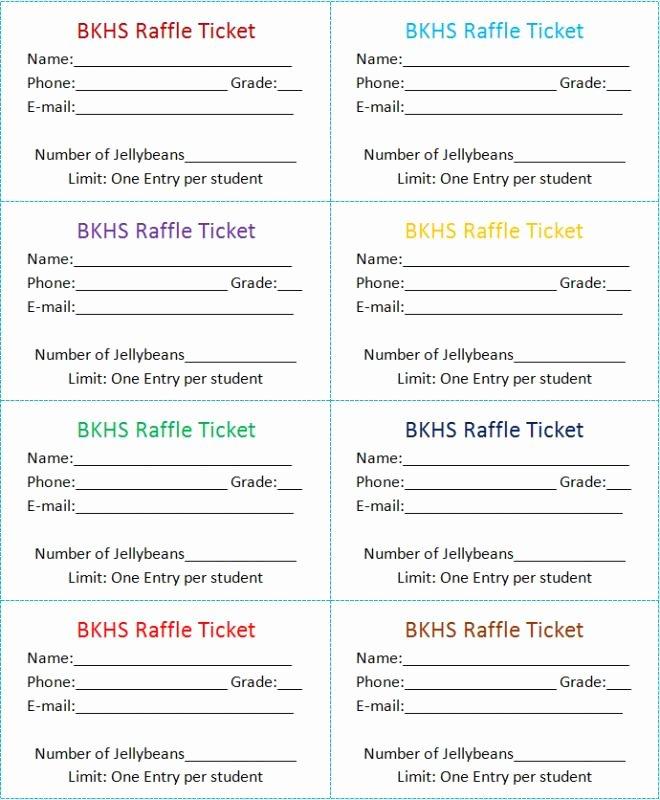 Blank Raffle Ticket Template Best Of Raffle Tickets Template