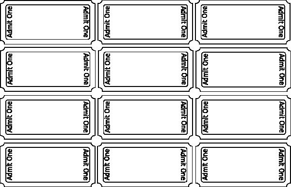 Blank Raffle Ticket Template Fresh Blank Tickets Clip Art at Clker Vector Clip Art