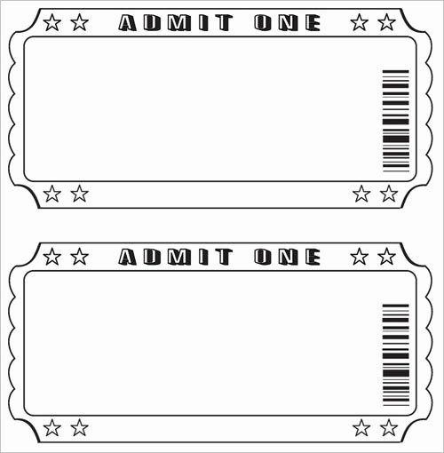 Blank Raffle Ticket Template Inspirational Free Raffle Ticket Template