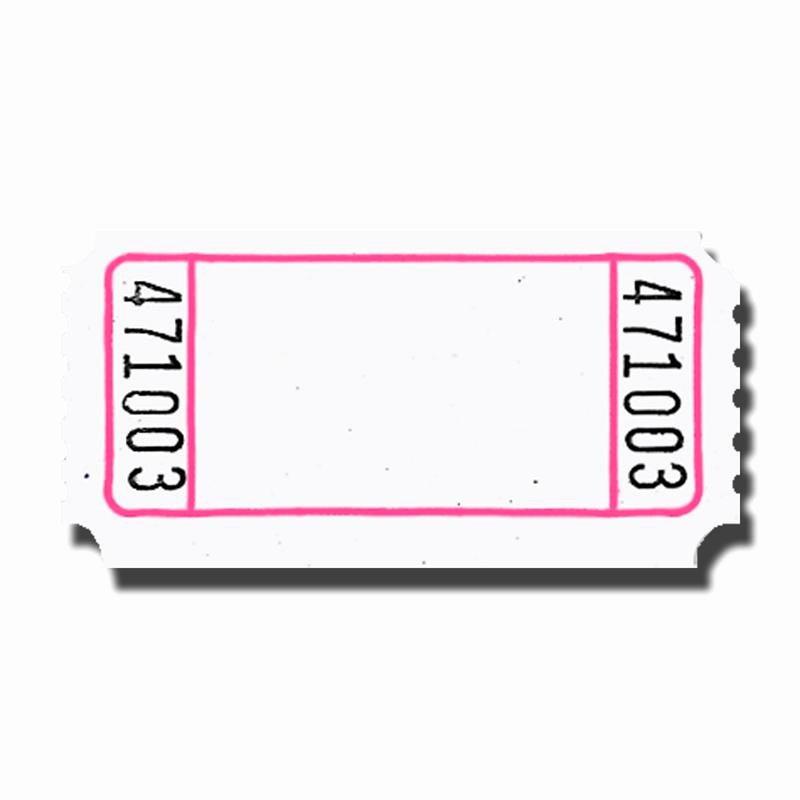 Blank Raffle Ticket Template Luxury Blank Tickets Clipart Best