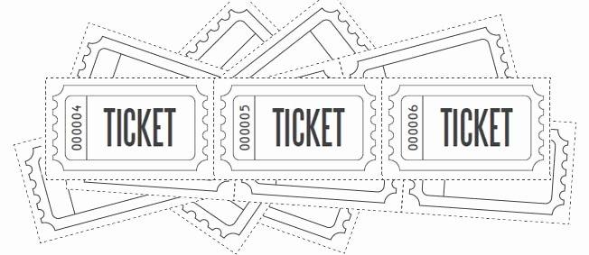 Blank Raffle Ticket Template Luxury Customize Printable Raffle Ticket Blanks