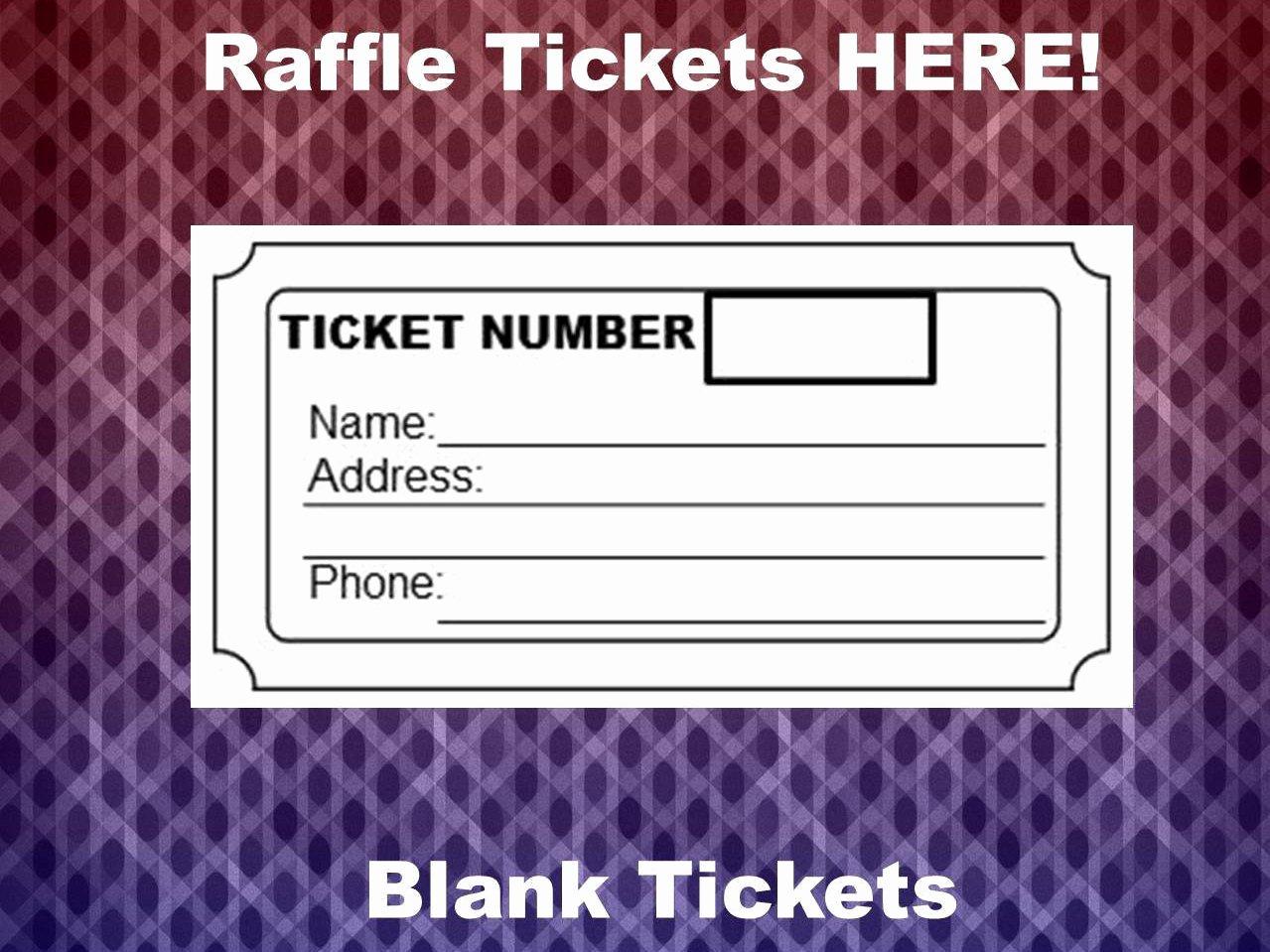 Blank Raffle Ticket Template New Raffle Ticket Template 8 Blank Raffle Tickets Per Page Party