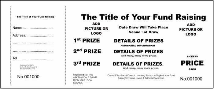 Blank Raffle Ticket Template Unique Pinterest • the World's Catalog Of Ideas