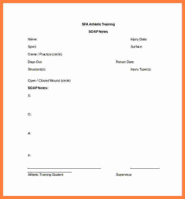 Blank soap Note Template Beautiful 9 soap Notes Template