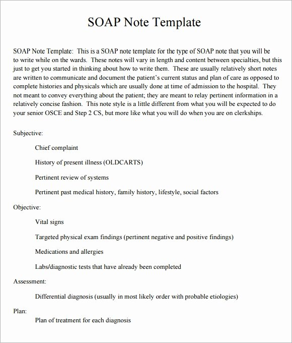 Blank soap Note Template Fresh soap Note Template 10 Download Free Documents In Pdf Word