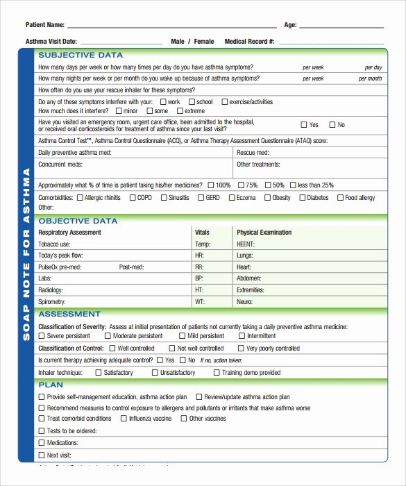 Blank soap Note Template New soap Note Template 10 Download Free Documents In Pdf Word