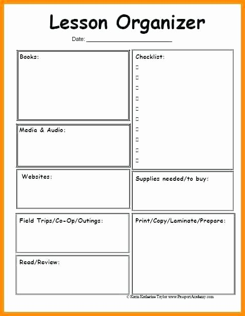 blank simple lesson plan template