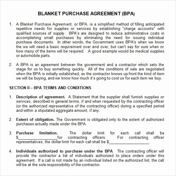 Blanket Purchase order Template Beautiful Free 11 Stock Purchase Agreement Templates In Google Docs