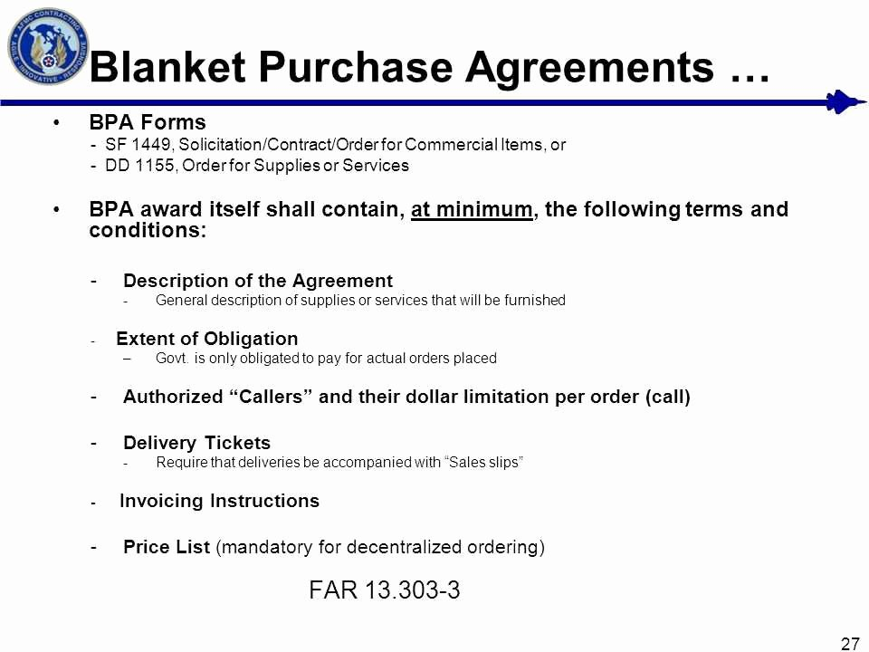 Blanket Purchase order Template Inspirational Blanket Purchase Agreement Basic Net Training Simplified