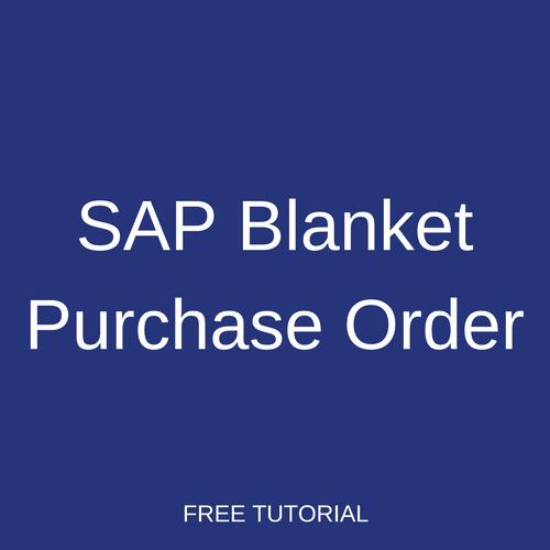 Blanket Purchase order Template Lovely Sap Blanket Purchase order Tutorial Free Sap Mm Training