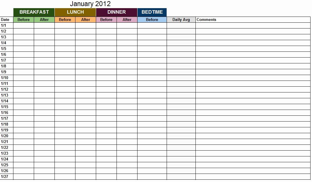 Blood Sugar Log Template Beautiful Blood Sugar Log Template Sample