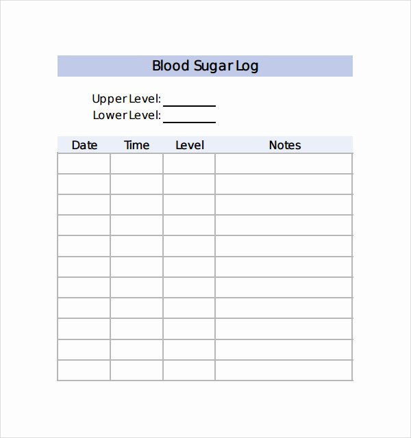 Blood Sugar Log Template Best Of Monthly Blood Sugar Log