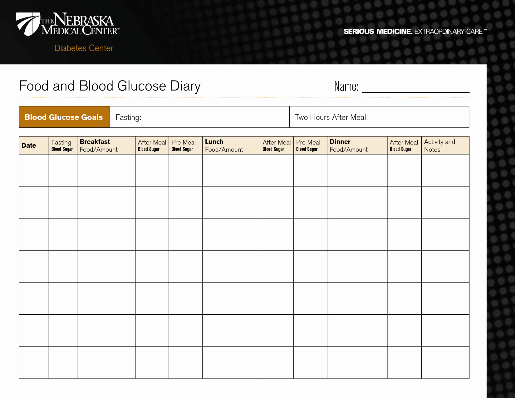 Blood Sugar Log Template Elegant Diabetic Food Diary Template Printable