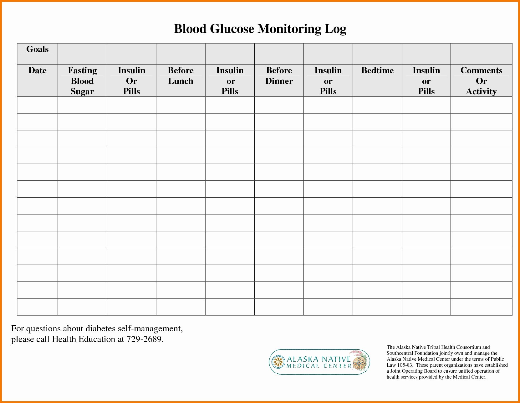 Blood Sugar Log Template Fresh Printable Blood Sugar Chart