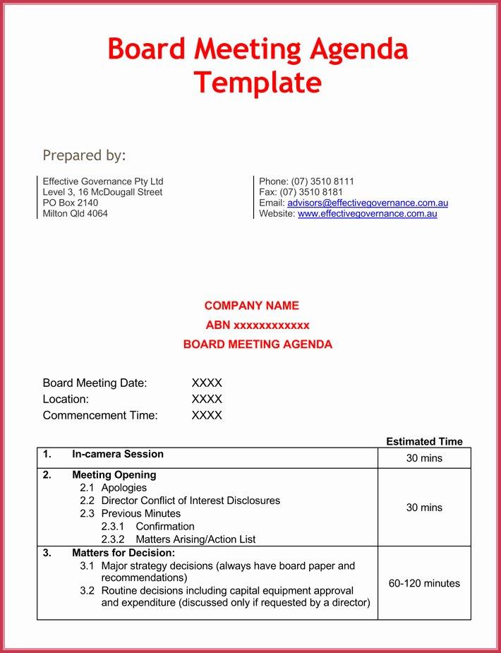 Board Meeting Agenda Template Beautiful Effective Meeting Agenda Templates 9 Best Samples In