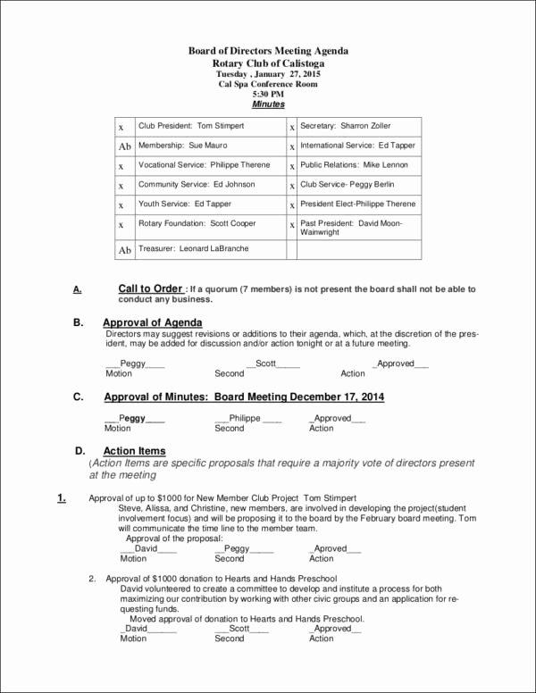 Board Meeting Agenda Template Best Of 9 Board Agenda Samples & Templates Pdf Doc