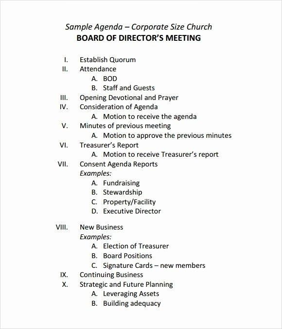 Board Meeting Agenda Template Best Of Board Meeting Agenda Templates