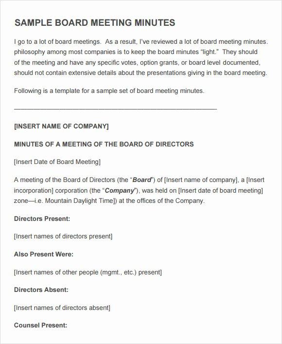 Board Meeting Agenda Template Elegant Free 11 Sample Board Meeting Agenda Templates In Pdf