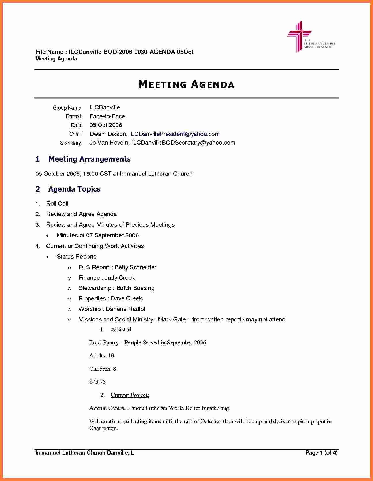 Board Meeting Agenda Template Fresh 5 Board Meeting Agenda