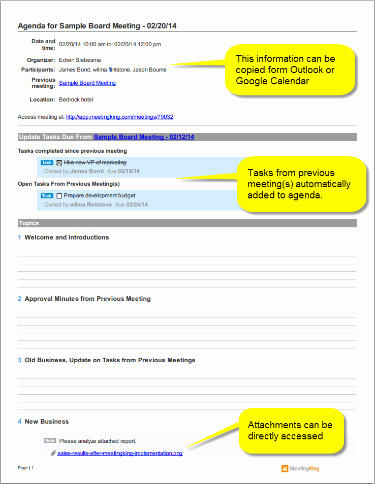 Board Meeting Agenda Template Fresh Sample Board Meeting Agenda Template
