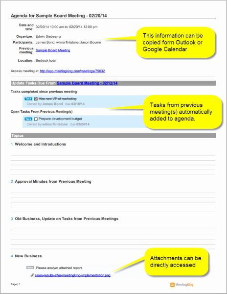 Board Meeting Agenda Template Unique Sample Board Meeting Agenda Template Meeting Agenda