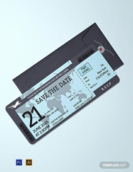 Boarding Pass Template Photoshop Awesome 10 Wedding Ceremony Boarding Passes In Illustrator
