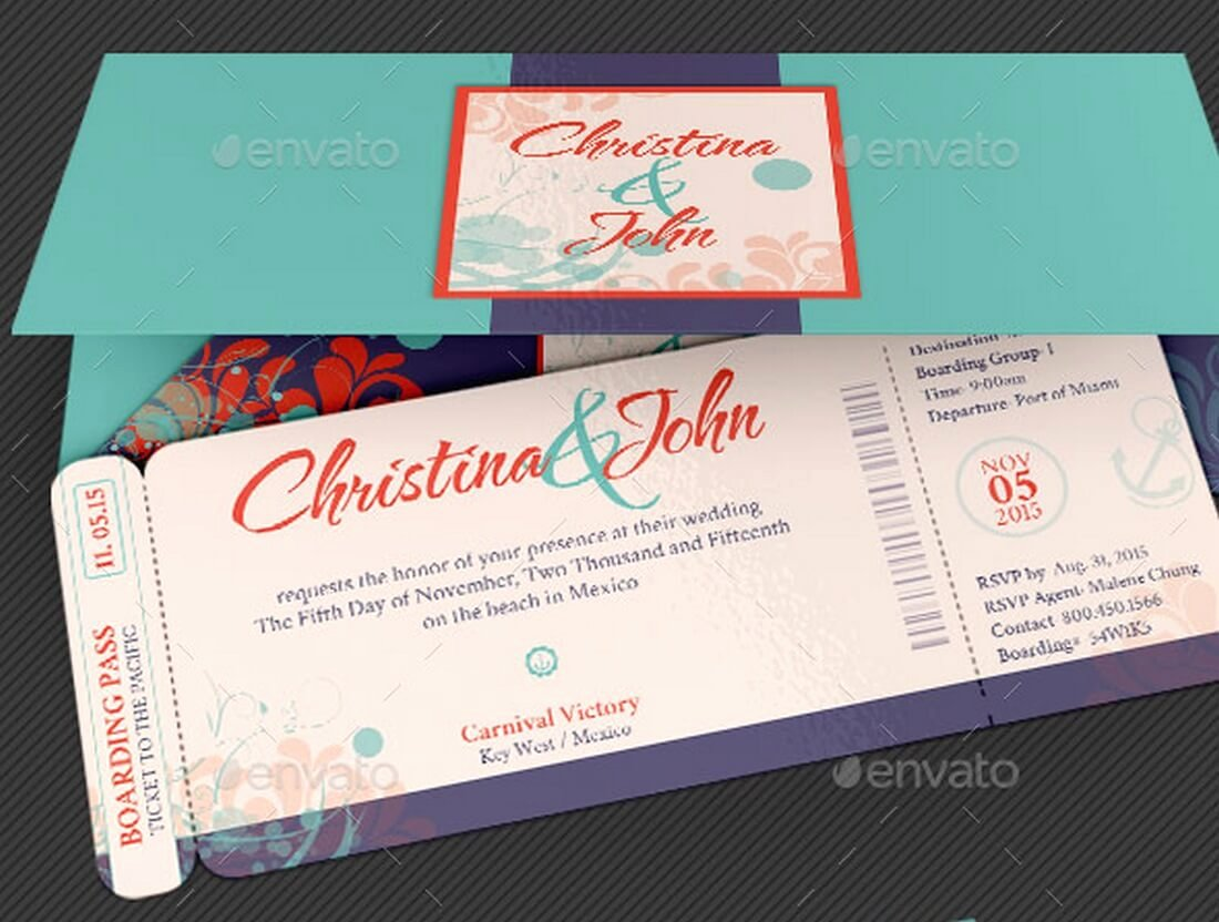 Boarding Pass Template Photoshop Awesome 15 Gorgeous Save the Date Templates