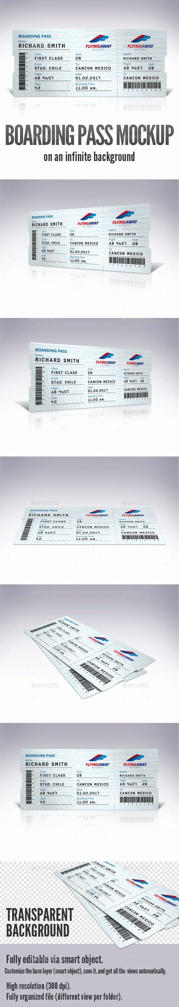 Boarding Pass Template Photoshop Best Of Pin by Bashooka Web & Graphic Design On Random Mockup
